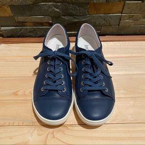 JOSEF SEIBEL • Navy Blue Leather Casual Shoe EU 37